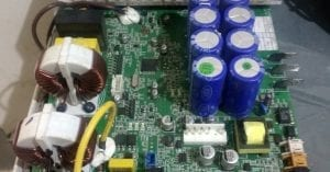 Damaged Air conditioning board