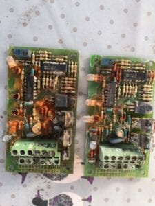 Water damaged pcb boards